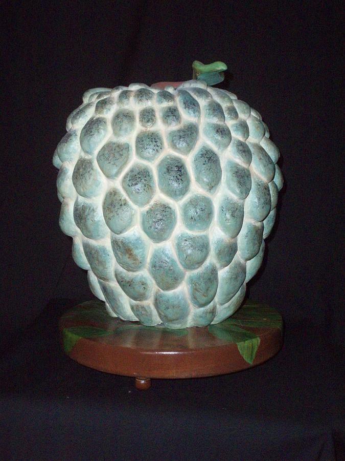 Tropical Fruit Sculpture - Anon Or Sweet Apple by MARI Sanchez