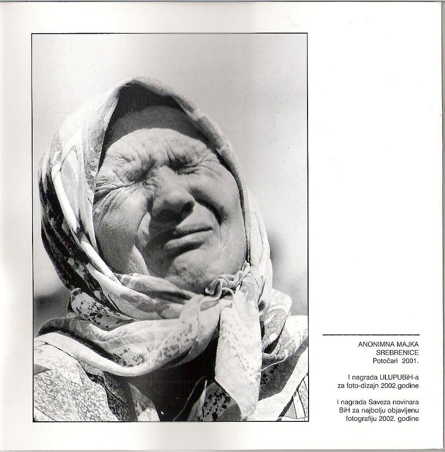 Portret Photograph - Anonymous Mother Of Srebrenica -potocari 2001 By Almin Zrno by Ekrem Fetic