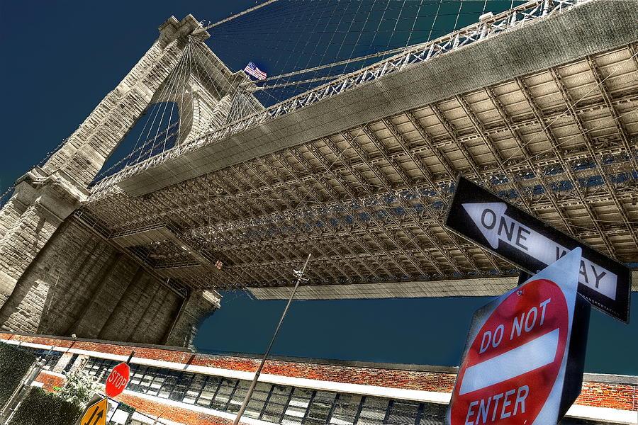 New York Photograph - ...another Angle Of Brooklyn Bridge... by Arkadiy Bogatyryov