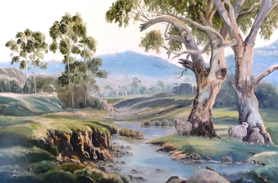 Landscape Painting - Another Australia Day by Diko
