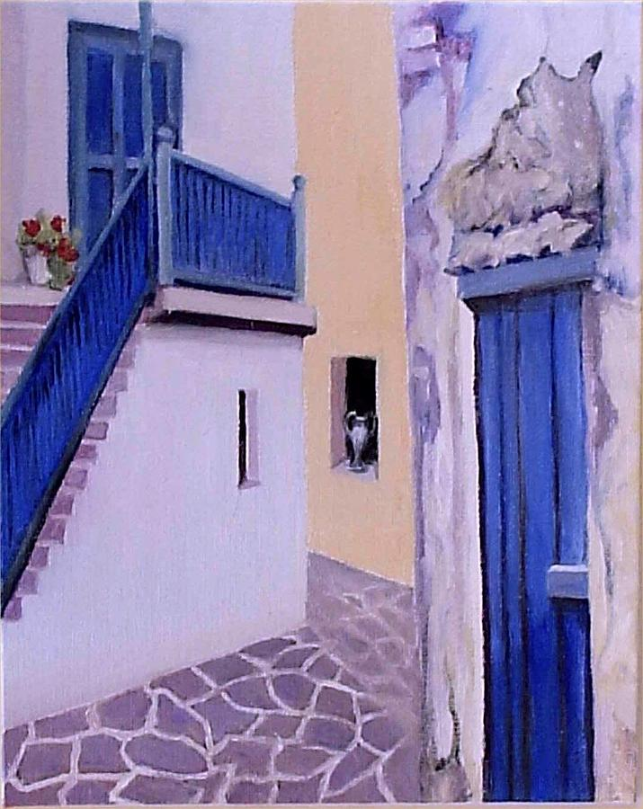 Village Scene Painting - Another Country Heard From by Irene Corey