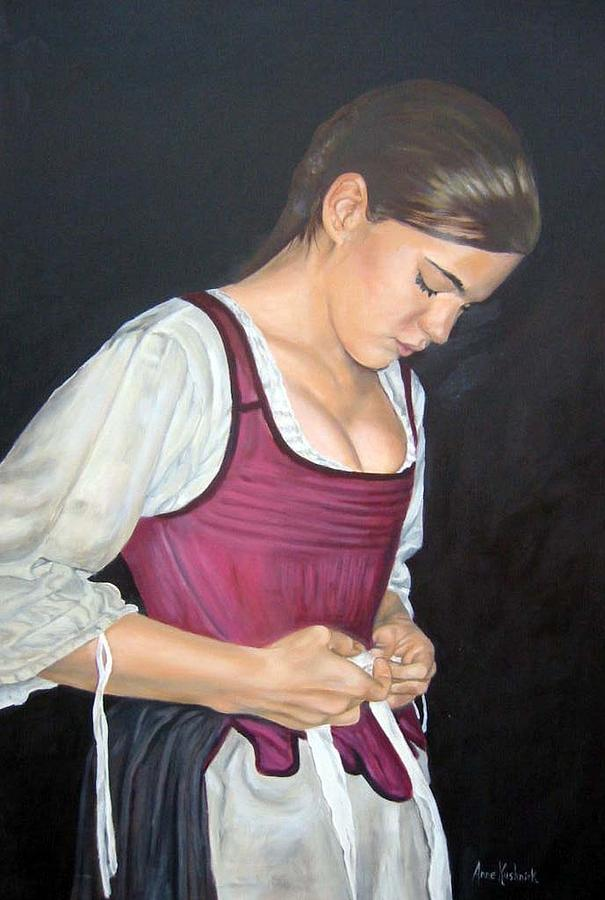 Portrait Painting - Another Day by Anne Kushnick