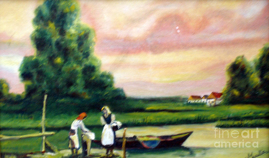 Vilage Painting - Another Day by Cilinha