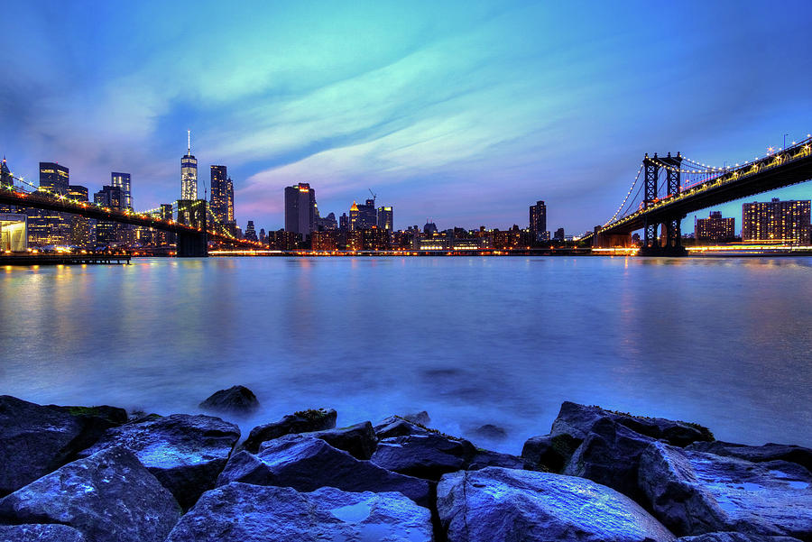 Brooklyn Bridge Park Photograph - Another Day Comes To A Close In Nyc by Daniel Portalatin