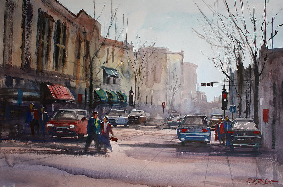 City Scene Painting - Another Day In Fond Du Lac by Ryan Radke