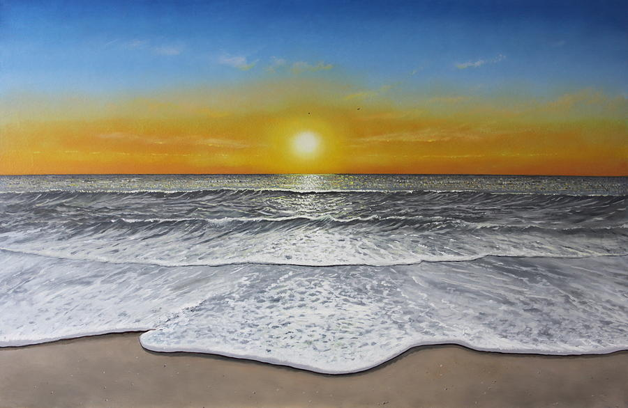 Sea Painting - Another Day by Paul Newcastle