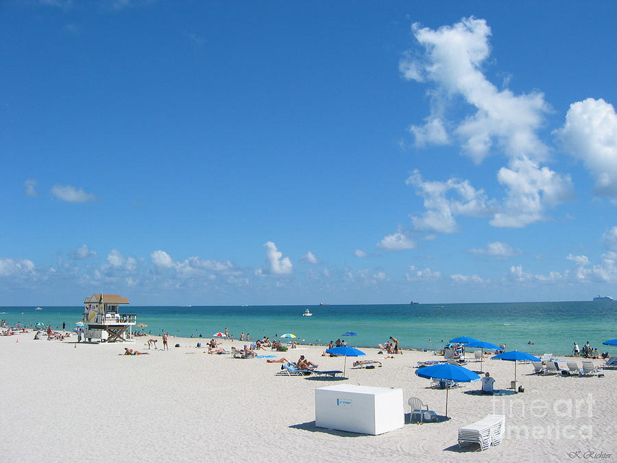 Landscape Photograph - another fine day in South Beach by Keiko Richter