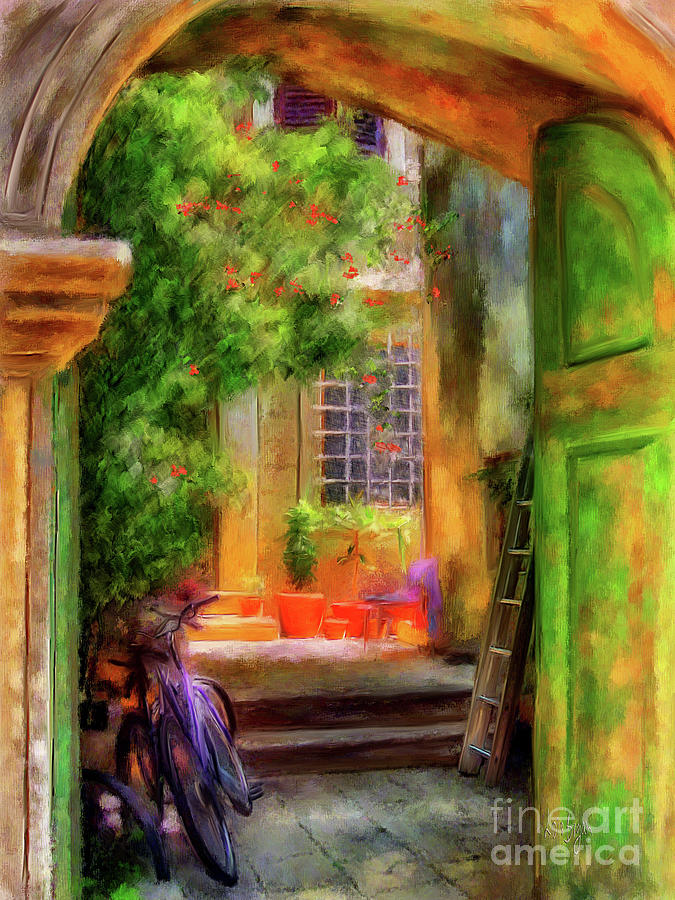 Doorway Digital Art - Another Glimpse by Lois Bryan
