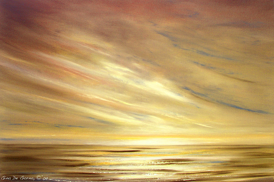 Gold Painting - Another Golden Sunset by Gina De Gorna