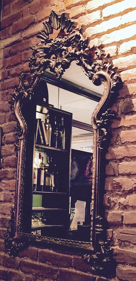 Another Lovely Baroque Italian Mirror, Pisticci Ristorante In Nyc Photograph