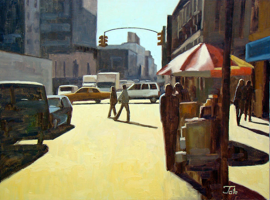 Cityscape Painting - Another summer in Manhattan by Tate Hamilton