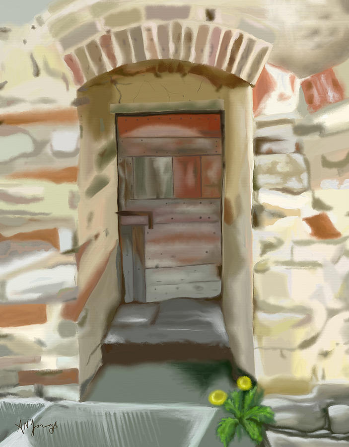 Doors Painting - Another Tuscan Door by Aimee N Youngs