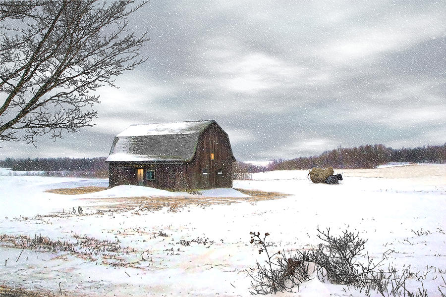 Barn Photograph - Another Winter Day by Gary Smith
