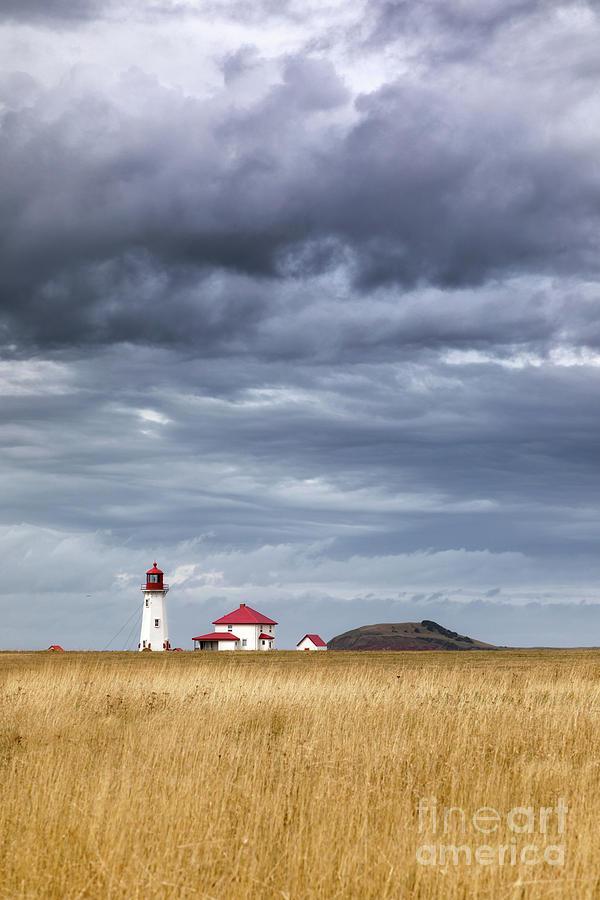 Quebec Photograph - Anse A La Cabane Lighthouse On The Magdalen Islands by Jane Rix