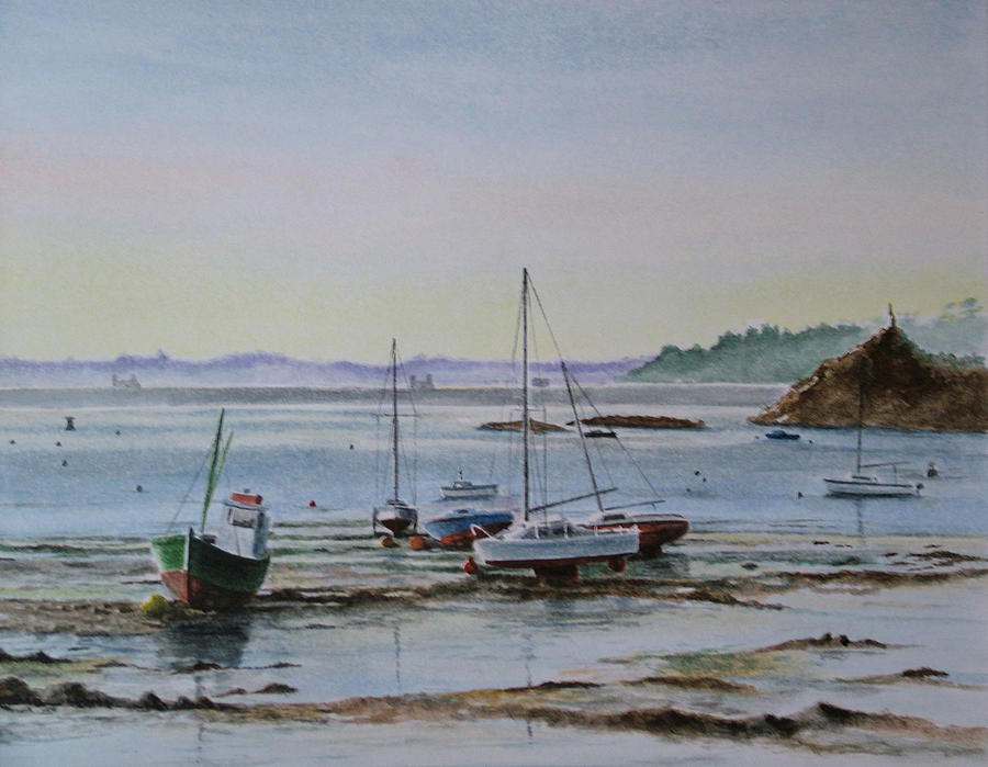 Seascapes Painting - Anse Solidor by Patrice Large