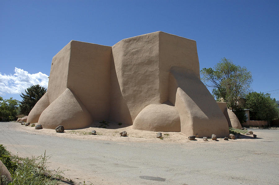 Taos Photograph - Ansels Church by Jerry McElroy
