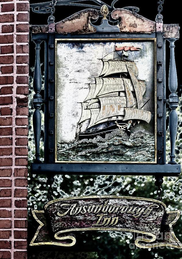 Sign Photograph - Ansonborough Inn by Dale Powell