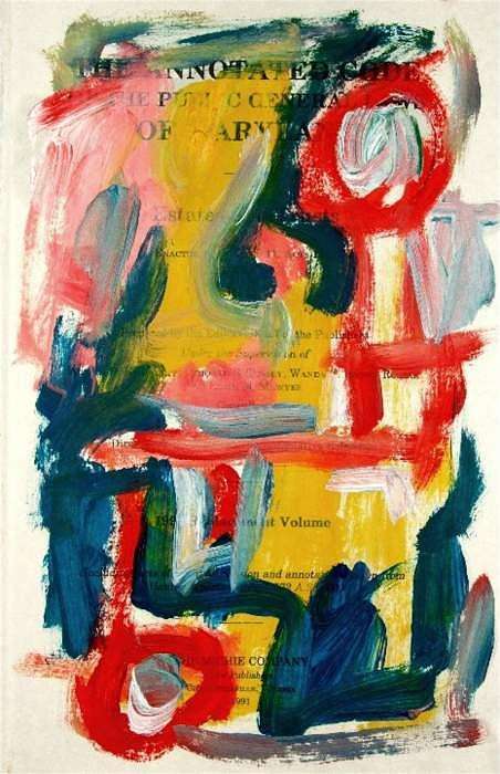 Abstract Painting - Anstract On Paper No. 18 by Michael Henderson