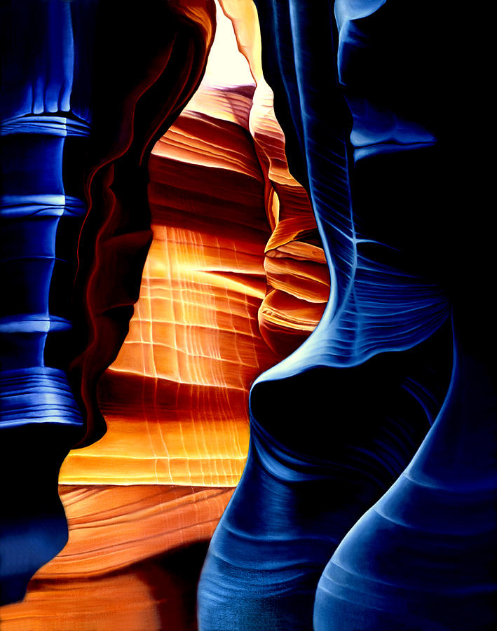 Landscape Painting - Antelope Canyon by Anni Adkins