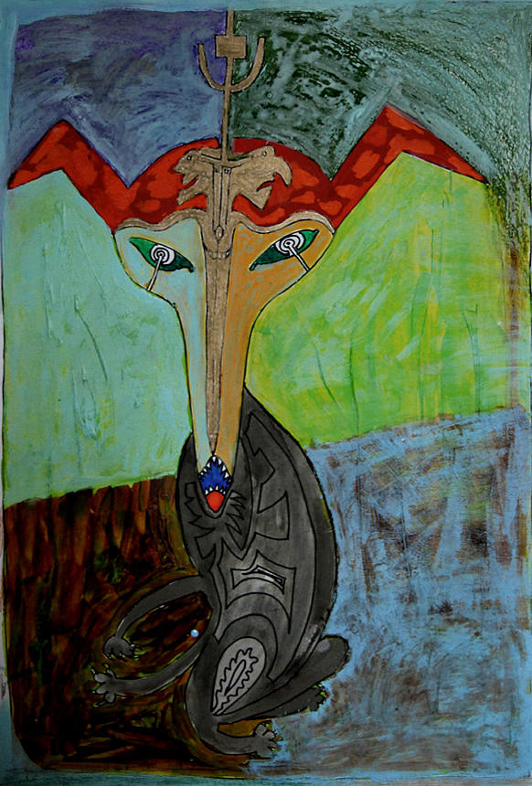Antentka Painting by Maciek Ratajczak