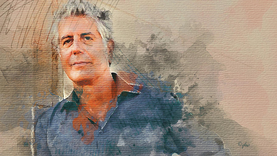 Anthony Bourdain by Paulette B Wright