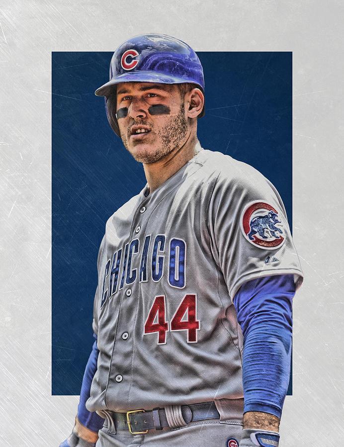 Anthony Rizzo Mixed Media - Anthony Rizzo Chicago Cubs 3 by Joe Hamilton