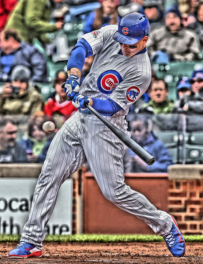 Anthony Rizzo Painting - Anthony Rizzo Chicago Cubs by Joe Hamilton