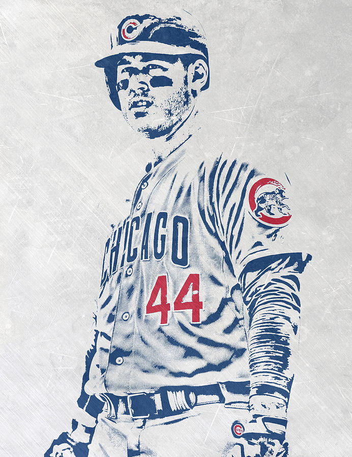 Anthony Rizzo Mixed Media - Anthony Rizzo CHICAGO CUBS PIXEL ART by Joe Hamilton