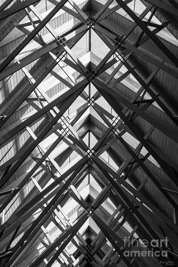 Abstract Photograph - Anthony Skylights Grayscale by Jennifer White