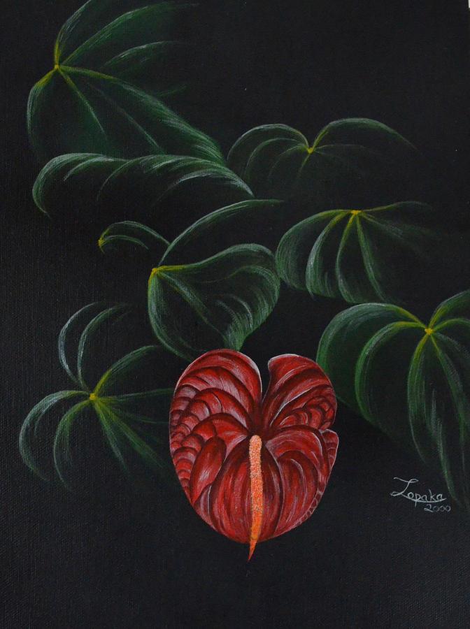 Hawaii Painting - Anthurium by Roberta Landers