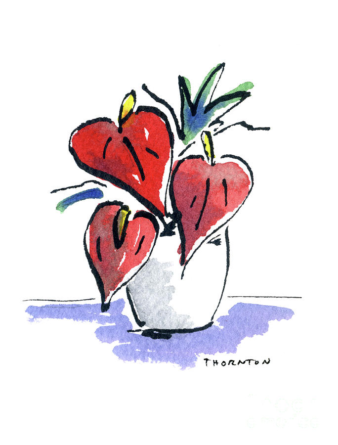 Anthurium Vase by Diane Thornton
