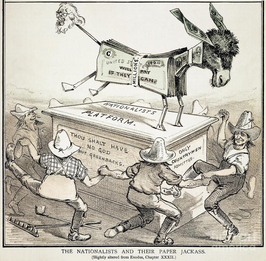 1876 Photograph - Anti-greenback Cartoon by Granger