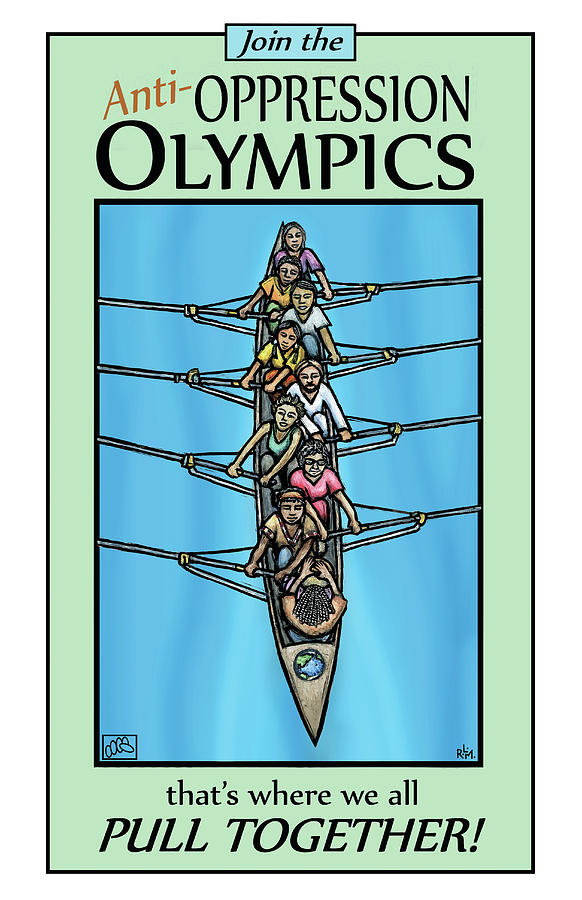 Olympics Mixed Media - Anti-oppression Olympics by Ricardo Levins Morales