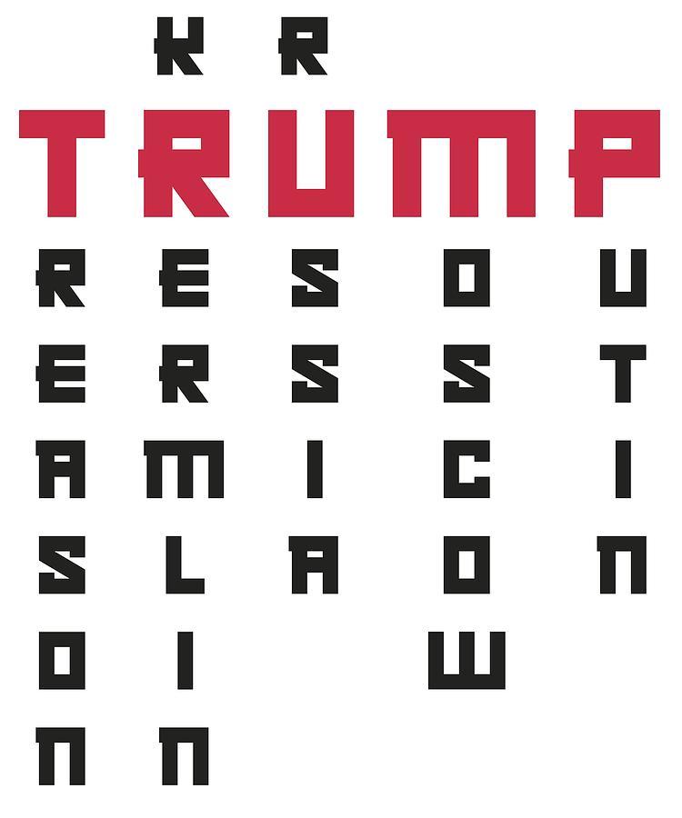 Trump Digital Art - Anti Trump Art Impeach President Resist Putin Light by Nikita Goel