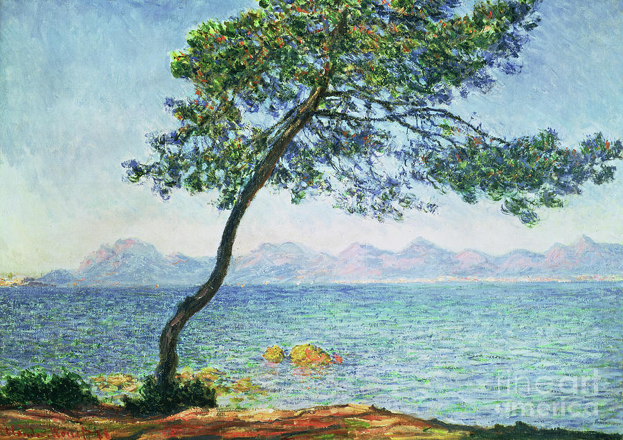 Monet Painting - Antibes by Claude Monet