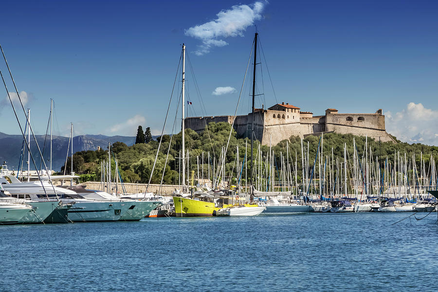 Antibes Photograph - Antibes Fort Carre And Port Vauban  by Melanie Viola