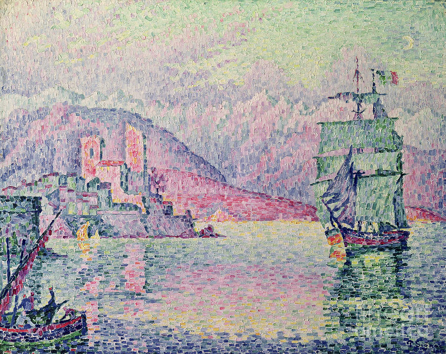 Antibes Painting - Antibes by Paul Signac