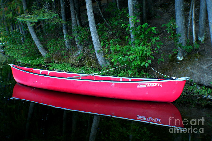 Canoe Photograph - Anticipation by Idaho Scenic Images Linda Lantzy