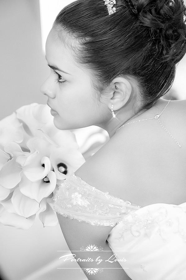 Bride Photograph - Anticipation by Louis Rivera