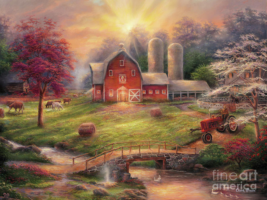 Sunrise Painting - Anticipation Of The Day Ahead by Chuck Pinson
