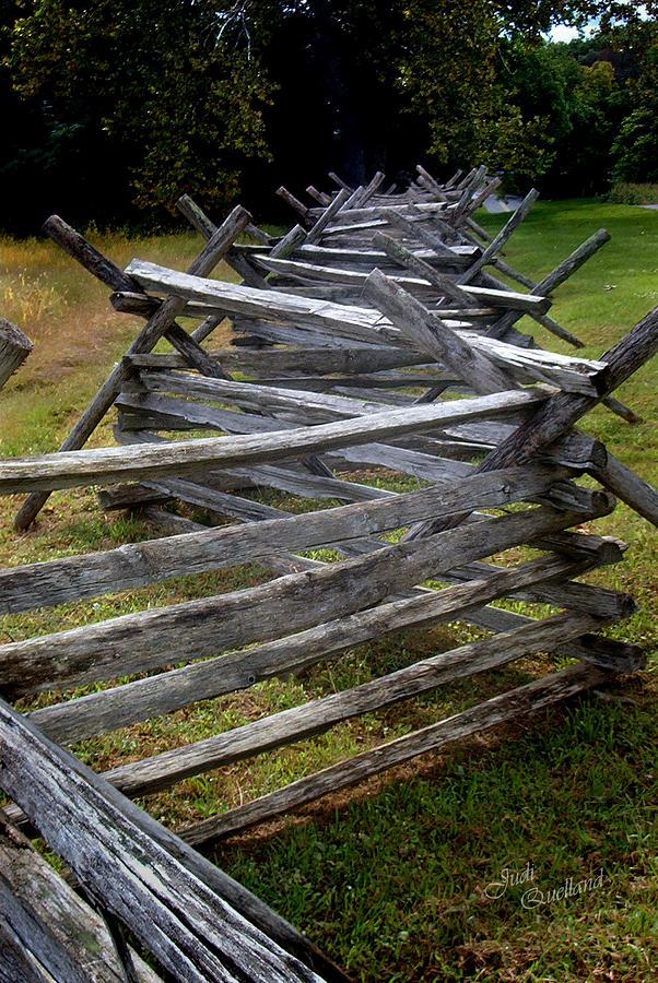 Fence Photograph - Antietam Fenceline by Judi Quelland