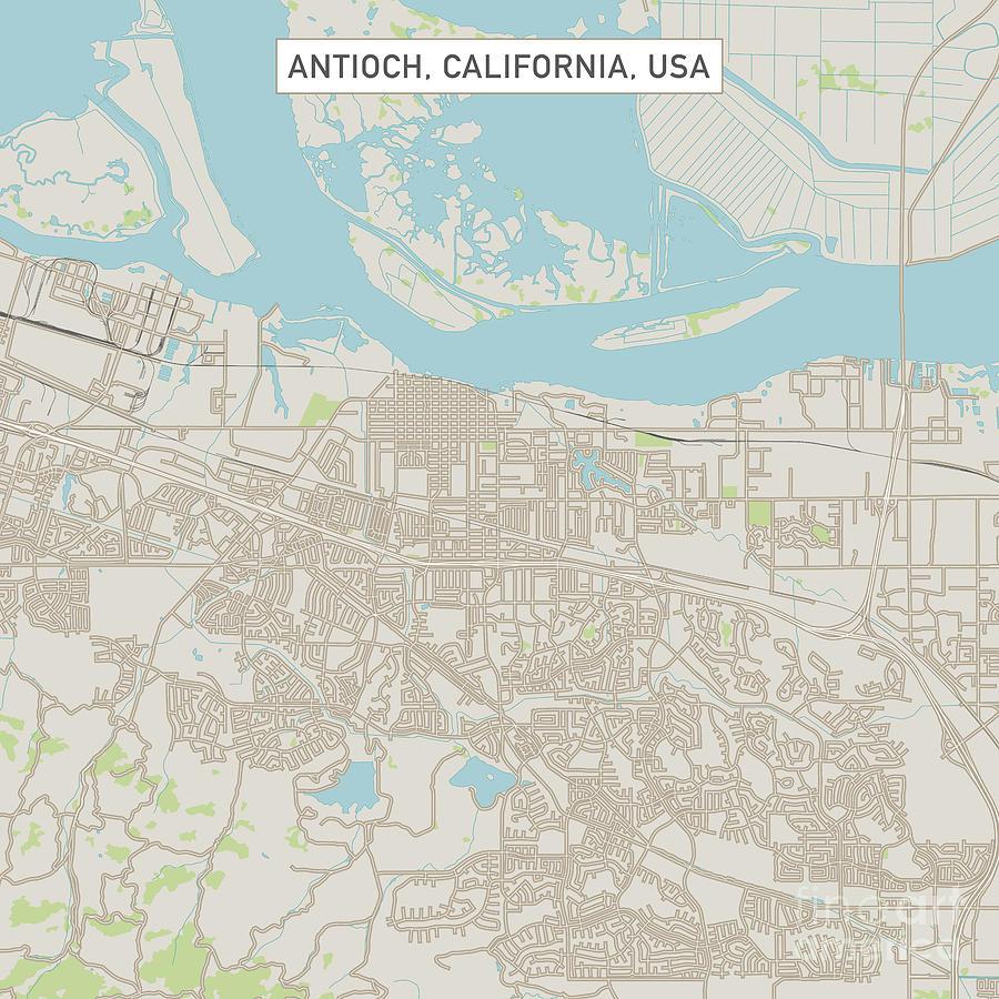 Antioch California Us City Street Map