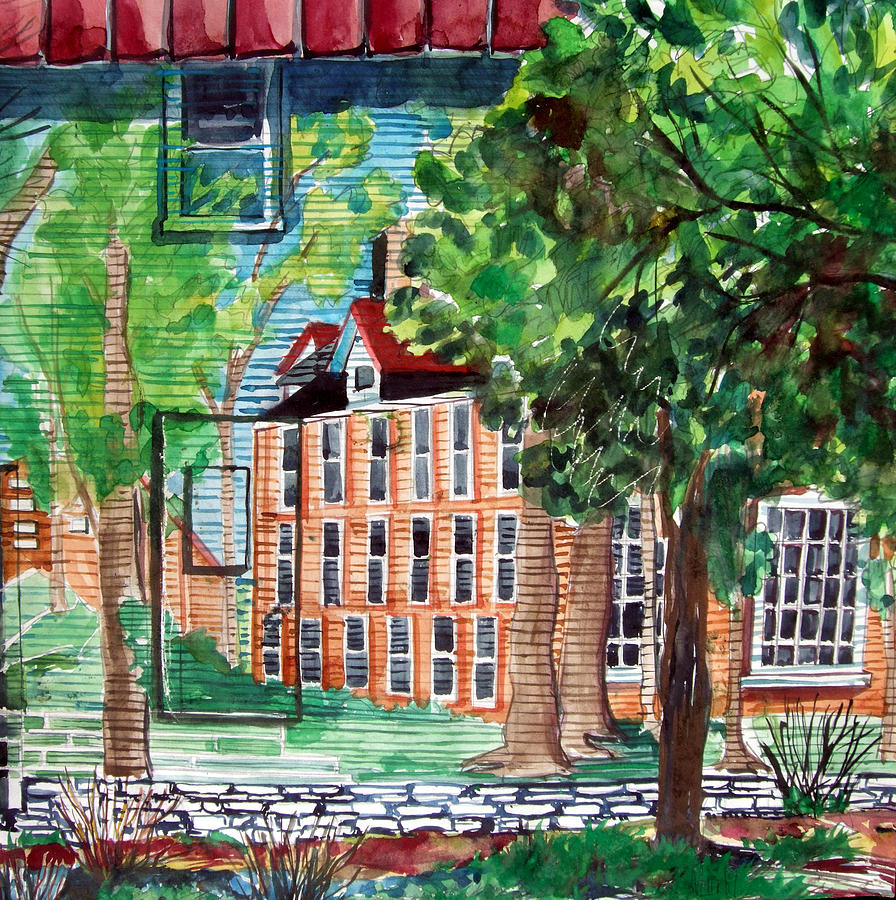 Tree Painting - Antioch Yellow Springs Ohio Mural by Mindy Newman