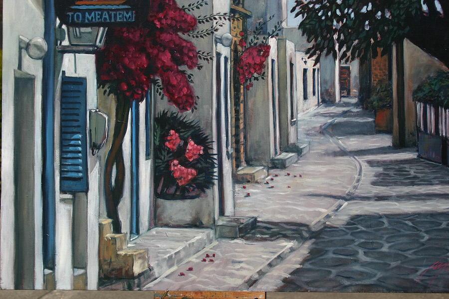 Antiparos Avenue Painting by Joe Jaqua