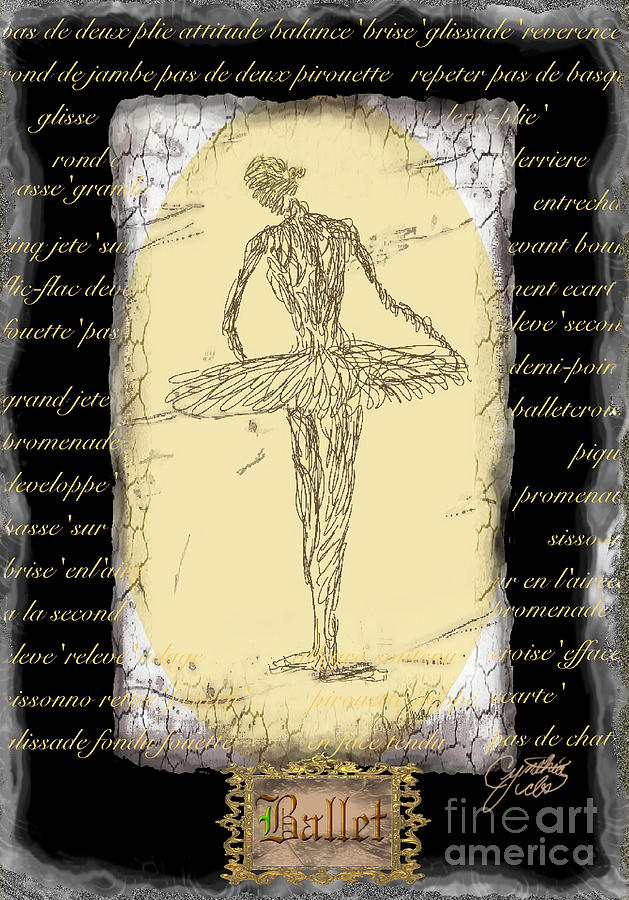 Ballet Digital Art - Antique Ballet by Cynthia Sorensen