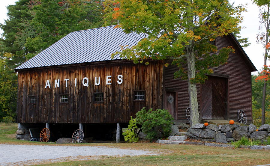 Antique Barn In Fall Photograph by Lois Lepisto