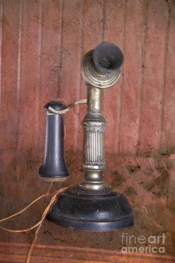 Antique Candlestick Phone Photograph