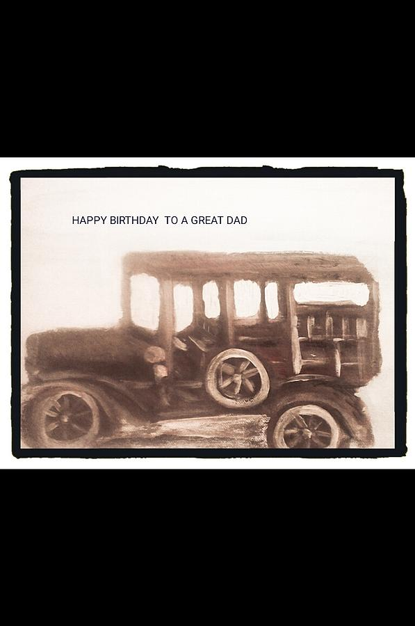 Antique Car Photograph - Antique Car For Dads Day by Barbara Searcy