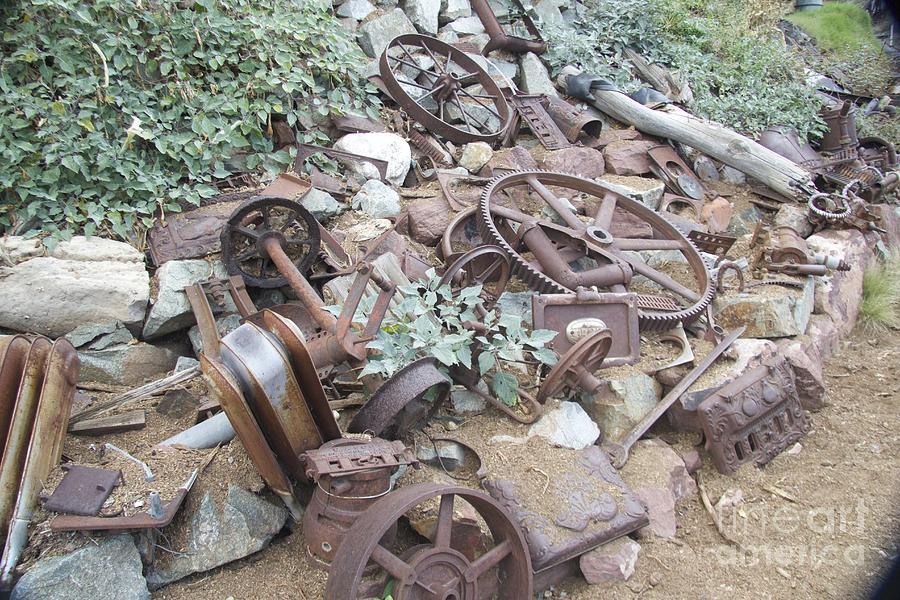 Antique Car Parts Photograph by Anthony Jones