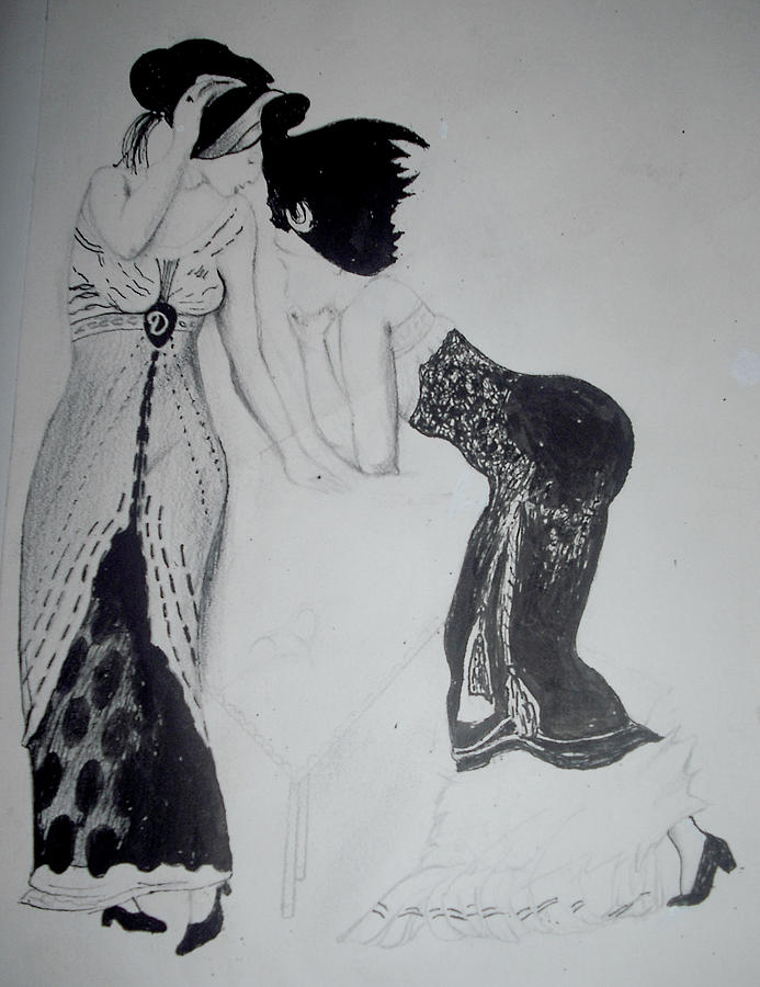 Antique Classical Drawing by Renee Alina Barela